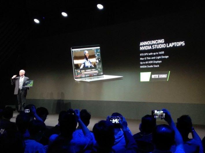 NVIDIA Studio 筆電配備 RTX GPU 最多達 16GB 圖像記憶、 Max-Q 輕薄設計、最高達 4K HDR 屏幕,與及提升描算效能的 NVIDIA Studio Stack 軟件庫。