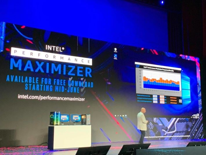 Intel 在現場示範 Intel Performance Maximizer 如何自動化超頻