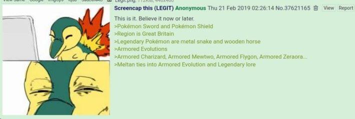 在遊戲名稱公布前網絡上就有人爆料,當中《 劍 / 盾 》的名字與遊戲的地區就已經確定的真情報。