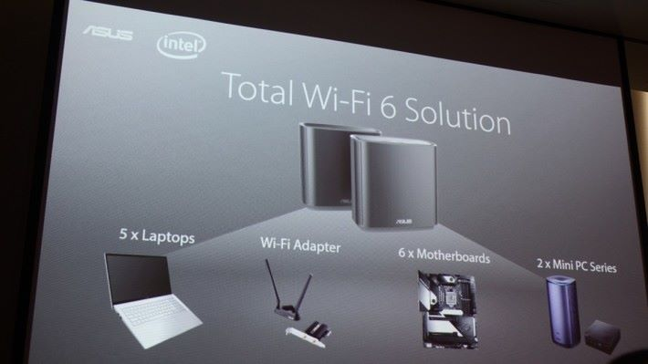ASUS 將推出多款 AX 接收端裝置。