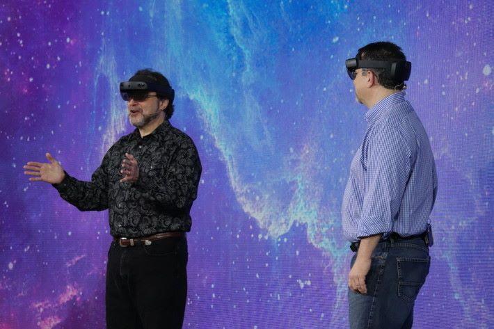 本在 Build 主題演講開場前示範由 Epic 製作的亞波羅 11 號登月情況,卻因技術問題未能展示。