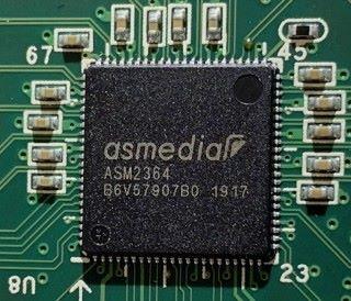 NVMe M.2 轉接卡採用了 ASM2364 晶片