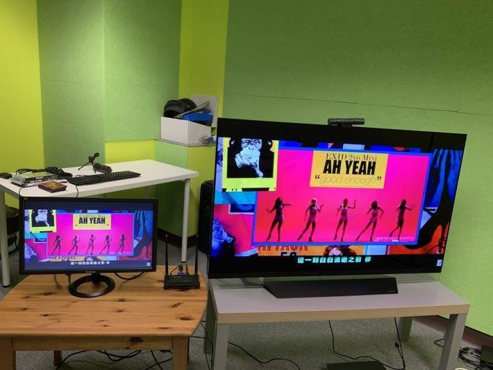 RX 端可同時輸出至兩台電視 / 屏幕。