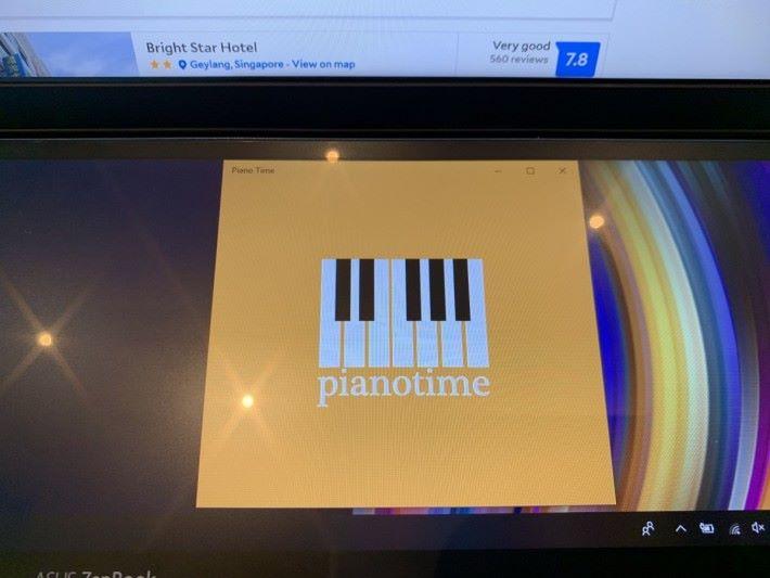 例如這個 Pianotime 是 Microsoft Store 的一個程式。