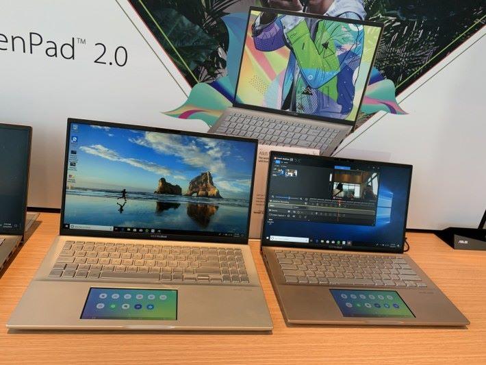 主打價廉的 VivoBook 都竟然搭載 ScreenPad 2.0。