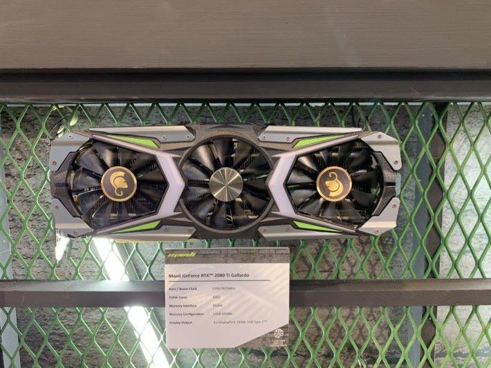 附自訂 RGB 軟件的 Manli GeForce RTX 2080 Ti Gallardo