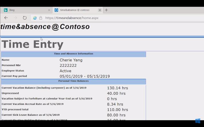 當啟動 IE 模式,網站圖示顯示熟悉的圖案。