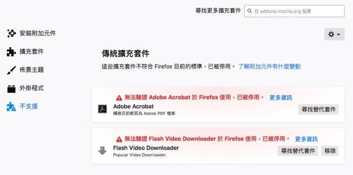 上周末用戶發現 Firefox 擴充套件失效,並且無法安裝新的套件。