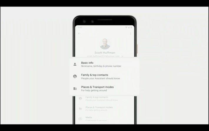 透過個人參考資料,令 Google Assistant 更能個人化地完成各種任務。