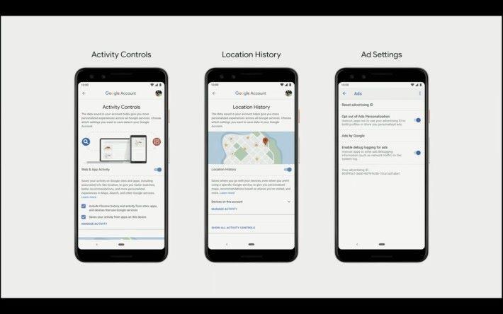 用戶可以更清晰掌控程式活動、位置紀錄和控制廣告
