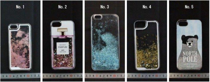 5 款受測的液體手機殼都是以聚碳酸酯物料,雖然耐衝擊,但就容易因溶劑導到龜裂漏出液體。