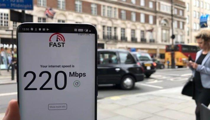 在倫敦市內不少地方都有超過 200Mbps 的速度