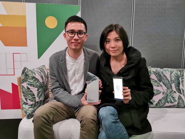 兩位創辦人 Kevin(左)及 JoJo 均表示獲獎感覺興奮又不敢相信。