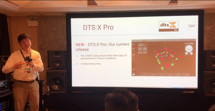 .今次示範的 DTS:X Pro 雖仍是 Beta 版本,但32聲道已相當具震撼性。