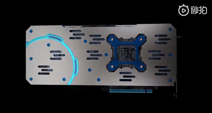背板也有藍燈。