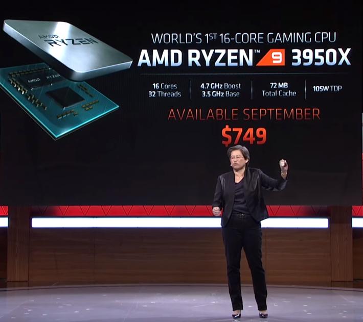 Ryzen 9 3950X 以US$749 上市,創 AM4 CPU 價格新高。