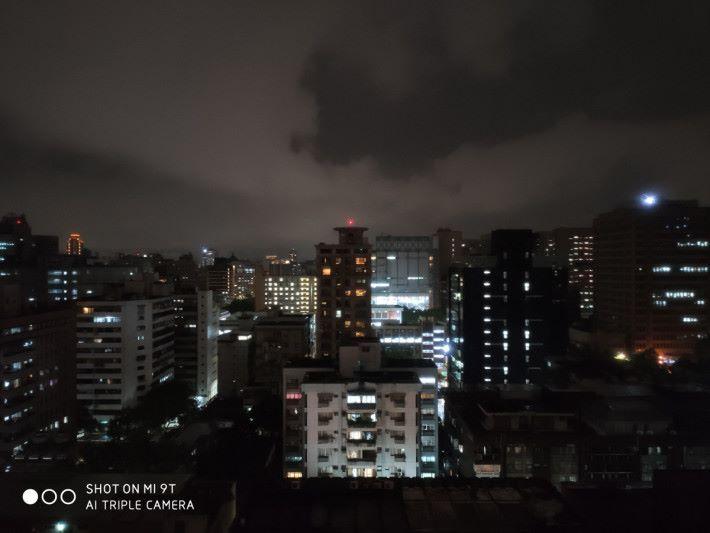未使用夜景模式時