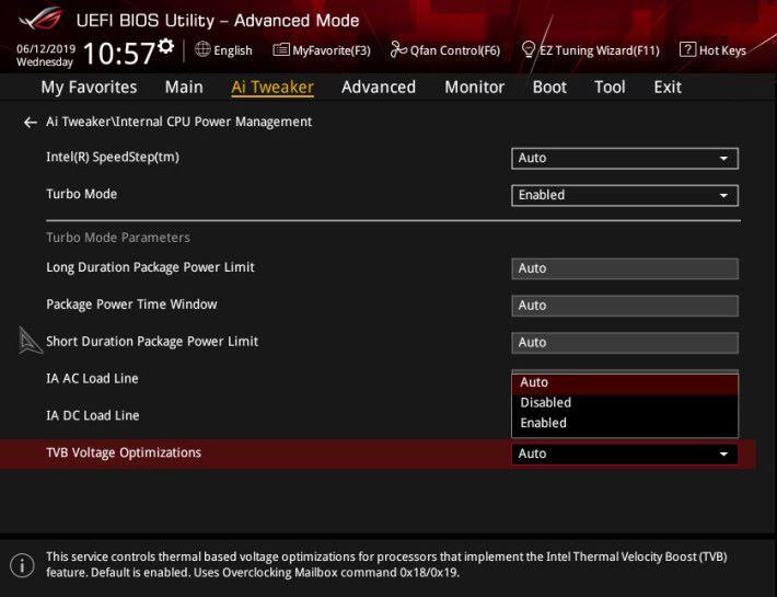 提供更多的設定,包括 TVB Voltage Optimizations。