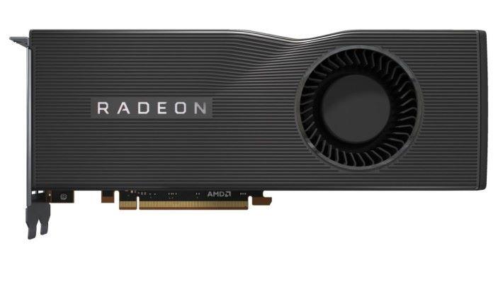 AMD Radeon RX 5700 Navi 顯示卡上有巨大凹痕。