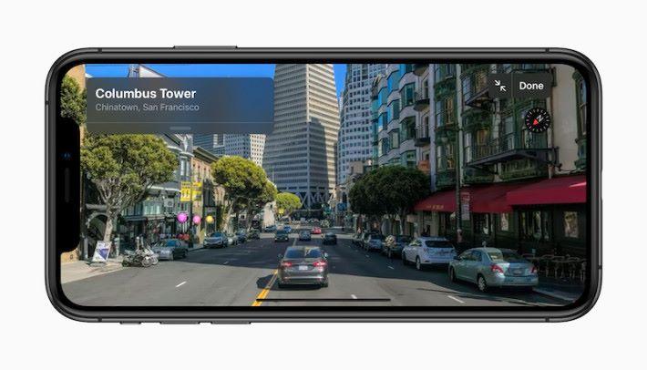 可 360 度旋轉的 Apple 地圖,比 Google 地圖的街景更細緻。