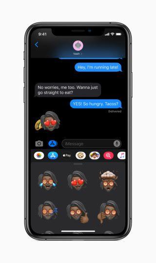 Memoji Stickers 可以以用戶的 Memoji 製作 Emoji 表情頭像,第三方軟件也可以用到。