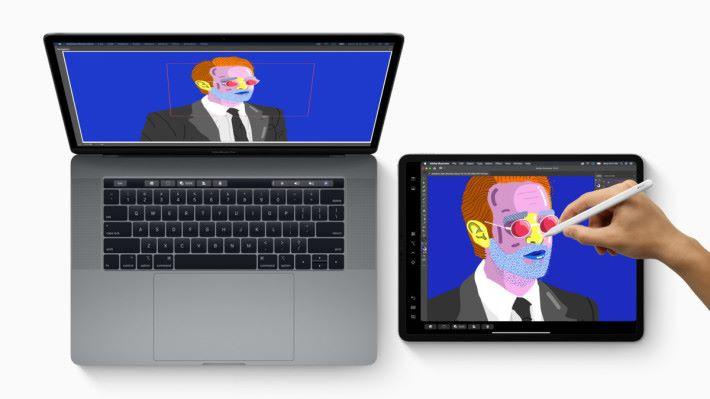 .Sidecar 功能點睇都係似Duet Display,但可以將 iPad 變畫板呢個功能應該有不少美術設計人員受落。