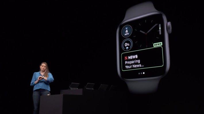 錶面自訂功能讓大家可以細緻設定錶面上的功能
