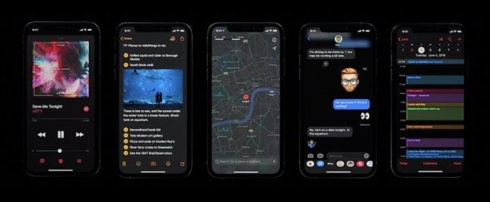 iOS 13 終於迎來真正的暗黑模式
