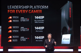 AMD 建議用家以同級 Ryzen 3000 CPU 與 RX 5700 XT / 5700 組成不同級別的遊戲平台。