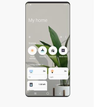 在手機使用《SmartThings》App即可遙控家中各種對應的家電及配件。