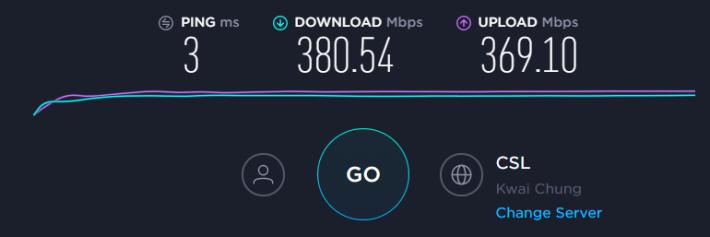「寬頻線」直駁 Router 之互聯網速度。