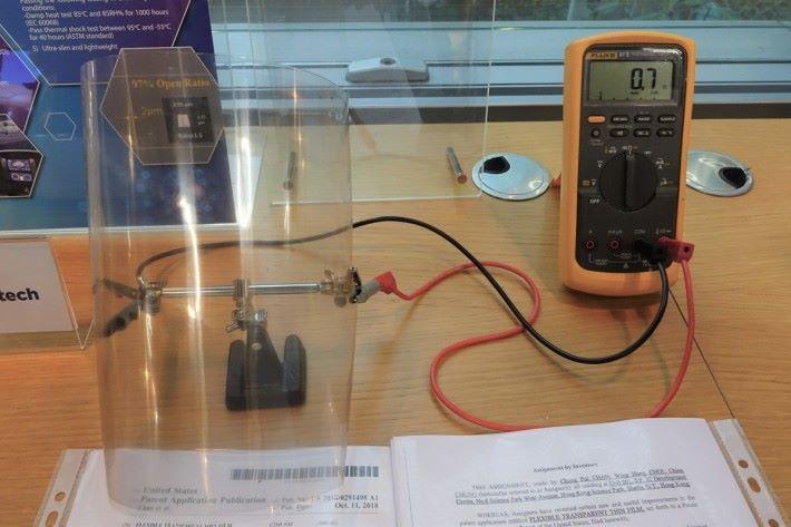 柔性透明導電膜即使屈曲,仍能保持低電阻的特性。