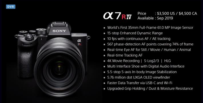 . Sony 在短時間發表 A7R IV,功能比 A7R III 又有大幅進步。