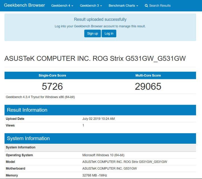 Geekbench 4 的表現極佳,Multicore 的分數幾乎達 3 萬分。