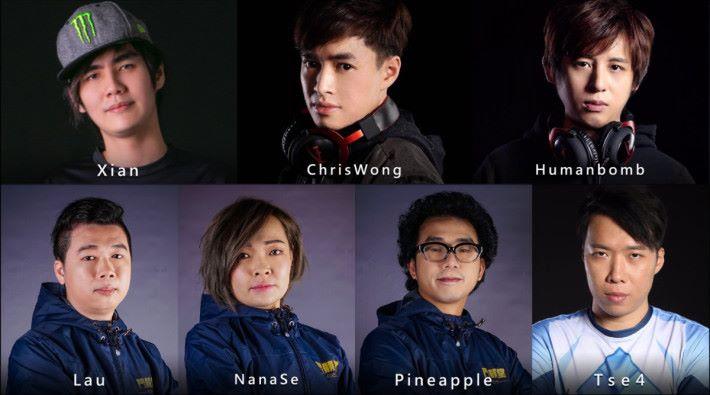 Xian 、 Humanbomb 等多位知名格鬥遊戲選手將來到電競音樂節一展身手。