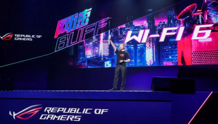 ASUS 於北京「天生 BUFF」活動發表 RT-AX89X Router。圖片來源:GameRes游资网-林德辉 @ 微博
