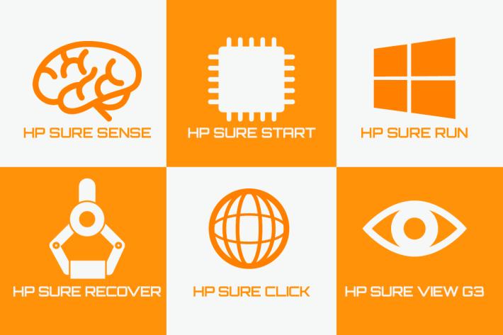 HP SURE 防衛功能為商用人士提供更佳的資料及系統保障。