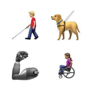 加入一系列傷殘人士主題的 Emoji