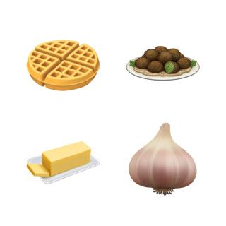 新增的食品:窩夫、炸豆丸子、牛油和洋葱