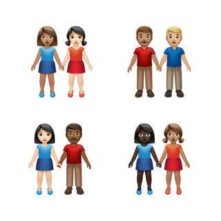 牽手 Emoji 會有 75 種不同組合