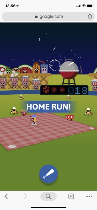 遊戲初段投手只投慢速直球,比較容易打出全壘打。