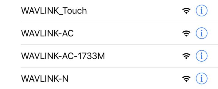一開機就發放 4 個 Wi-Fi SSID。
