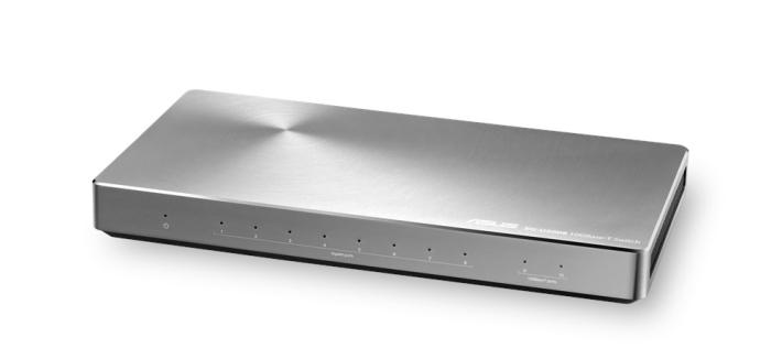 10G 網絡設備方面,ASUS 有 XG-C100C 的 10G LAN 卡、圖中這款 XG-U2008 Switch 及部分 Asustor NAS。