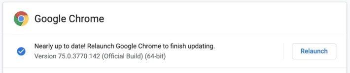 進入 About Google Chrome 就能主動觸發更新