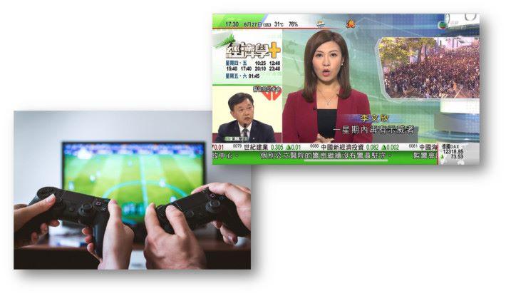 .觀看電視節目,或者玩遊戲時畫面會因快速移動而產生拖尾或殘影。具有 100Hz 刷新率的電視會令觀看時眼睛不覺疲倦。