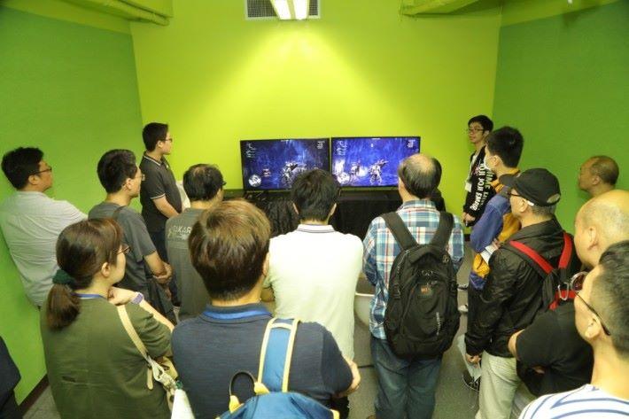 是次活動中透過遊戲畫面可以體驗全新 BRAVIA 電視在 100Hz 刷新率下的遊戲表現。