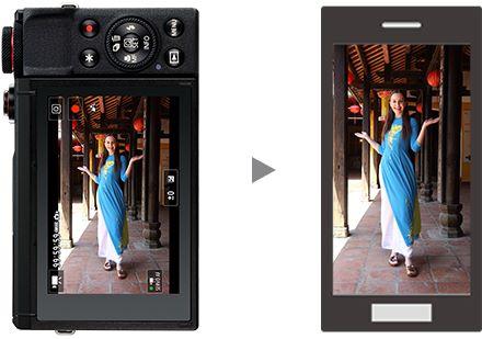 影片裡含有垂直拍攝資料,直度影片即使放在手機上也能以全屏幕觀看。