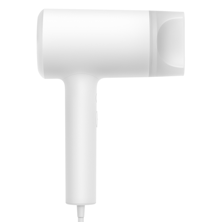 米家水離子風筒內置冷凝針,將空氣中的水份瞬間霧化成微小的負電水離子,並使用 NTC 智能溫度控制模組,透過監測入風口的環境溫度變化,自動調整冷熱風交替出風時間。