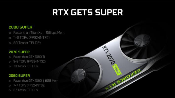 RTX 2060 SUPER、RTX 2070 SUPER 和 RTX 2080 SUPER 簡述