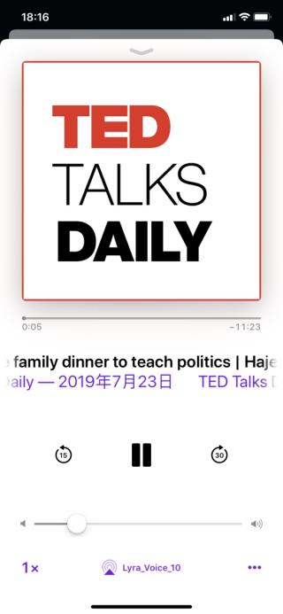 可以透過藍牙播 iTunes Podcast。